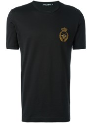 Dolce And Gabbana Bee Crown T Shirt Black
