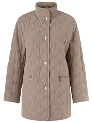 Eastex Diamond Leaf Quited Raincoat Neutral