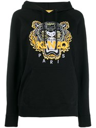 Kenzo Embroidered Tiger Hoodie Black