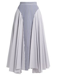 Adam By Adam Lippes Handkerchief Hem Striped Cotton Skirt Multi Stripe
