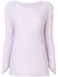 Borgo Asolo Classic Fitted Sweater Cashmere Pink Purple