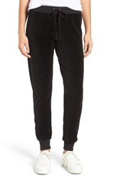 Juicy Couture Women's Zuma Velour Track Pants Pitch Black