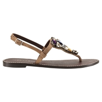 Jigsaw Bree Flat Jewel Embellished Sandals Taupe Suede