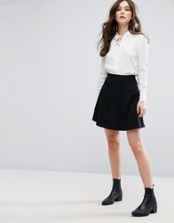 Vila Skater Mini Skirt Black