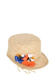 Patrizia Fabri Straw Cap With Floral Detail