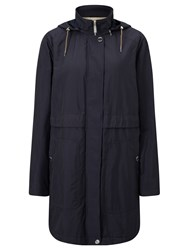 Gerry Weber Water Repellent Hooded Coat Navy