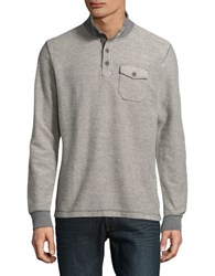 Lucky Brand Ribbed Cotton Sweater Heather Grey