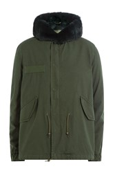 Mr And Mrs Italy Cotton Parka With Fox Fur Collar Green