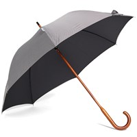 London Undercover Classic Solid Stick Umbrella Black