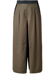 Guild Prime Cropped Pleated Palazzo Pants Green