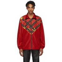 Versace Red Bondage Track Jacket