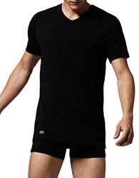 Lacoste Two Pack Slim Fit V Neck Tee Black