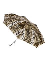 Totes Automatic Open And Close Umbrella Leopard