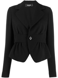 Dsquared2 Cropped Cinched Waist Blazer Black