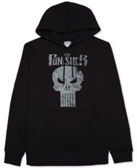 Jem Men's Marvel Punisher Graphic Print Hoodie Black