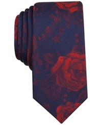 Bar Iii Men's Halton Floral Slim Tie Only At Macy's Red