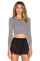 Bcbgeneration Seamless Crop Top Black