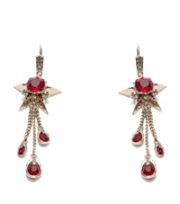 Alexander Mcqueen Star And Skull Earrings Female Silver