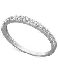 Arabella 14K White Gold Ring Swarovski Zirconia Wedding Band 1 Ct. T.W. Clear