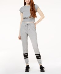 Material Girl Active Juniors' Jogger Pants Created For Macy's Heather Grey
