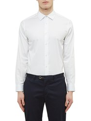 Ted Baker Raabin Satin Stretch Shirt White