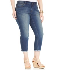 Jessica Simpson Plus Size Forever Cropped Skinny Jeans Monterey Wash