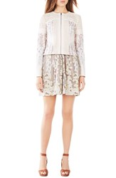 Women's Bcbgmaxazria 'Tarik' Floral Crepe And Lace Jacket Bare Pink Combo
