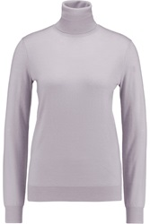 Joseph Cashmere Turtleneck Sweater Purple