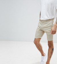 Heart And Dagger Smart Shorts In Linen Stone