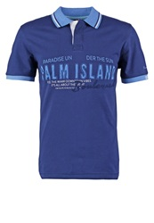 Tom Tailor Polo Shirt Black Iris Blue Dark Blue