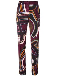 Emilio Pucci Printed Straight Trousers