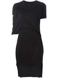 Barbara I Gongini Layered T Shirt Dress Black