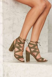 Sam Edelman Yardley Suede Heel Green
