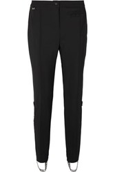 Fendi Roma Jacquard Trimmed Tapered Stirrup Ski Pants Black