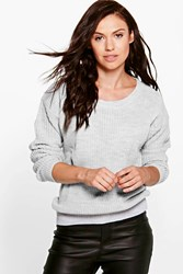 Boohoo Oversized Jumper Grey