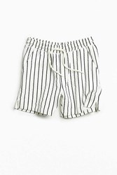 Urban Outfitters Uo Lucien Referee Stripe Short White