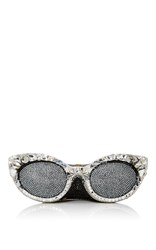 Judith Leiber Couture Silver Sugar Eyeglasses Clutch