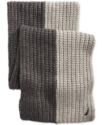 Nautica Two Tone Ribbed Scarf Granite Heather Grey Heather