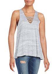 Candc California Tristen Space Dye Tank Heather Grey