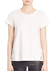 Set Lace Back Tee Off White