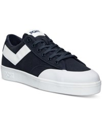 Pony Men's Vintage Slam Dunk Lo Canvas Casual Sneakers From Finish Line Navy White