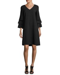 Lafayette 148 New York Velez Finesse Crepe Dress Plus Size Black