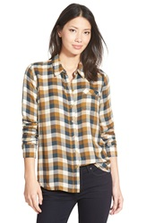 Lucky Brand 'Bungalow' Plaid Button Back Shirt Brown Multi