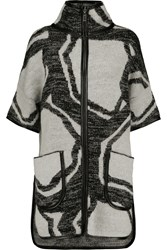 Raoul Jacquard Knit Coat Gray