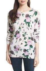 Equipment Women's Sloane Floral Print Cashmere Sweater Ivory Multi
