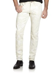 Ralph Lauren Black Label Slim Fit Camo Jeans Cream Camo