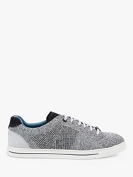 Ted Baker Plowns Knitted Trainers Mid Grey