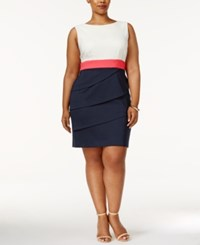 Connected Plus Size Colorblock Tiered Sheath Icn