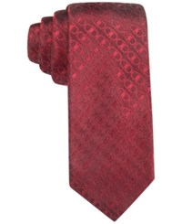Alfani Men's Buckle Geo Slim Tie Only At Macy's Red