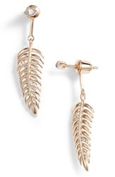 Melanie Auld Feather Drop Earring Gold